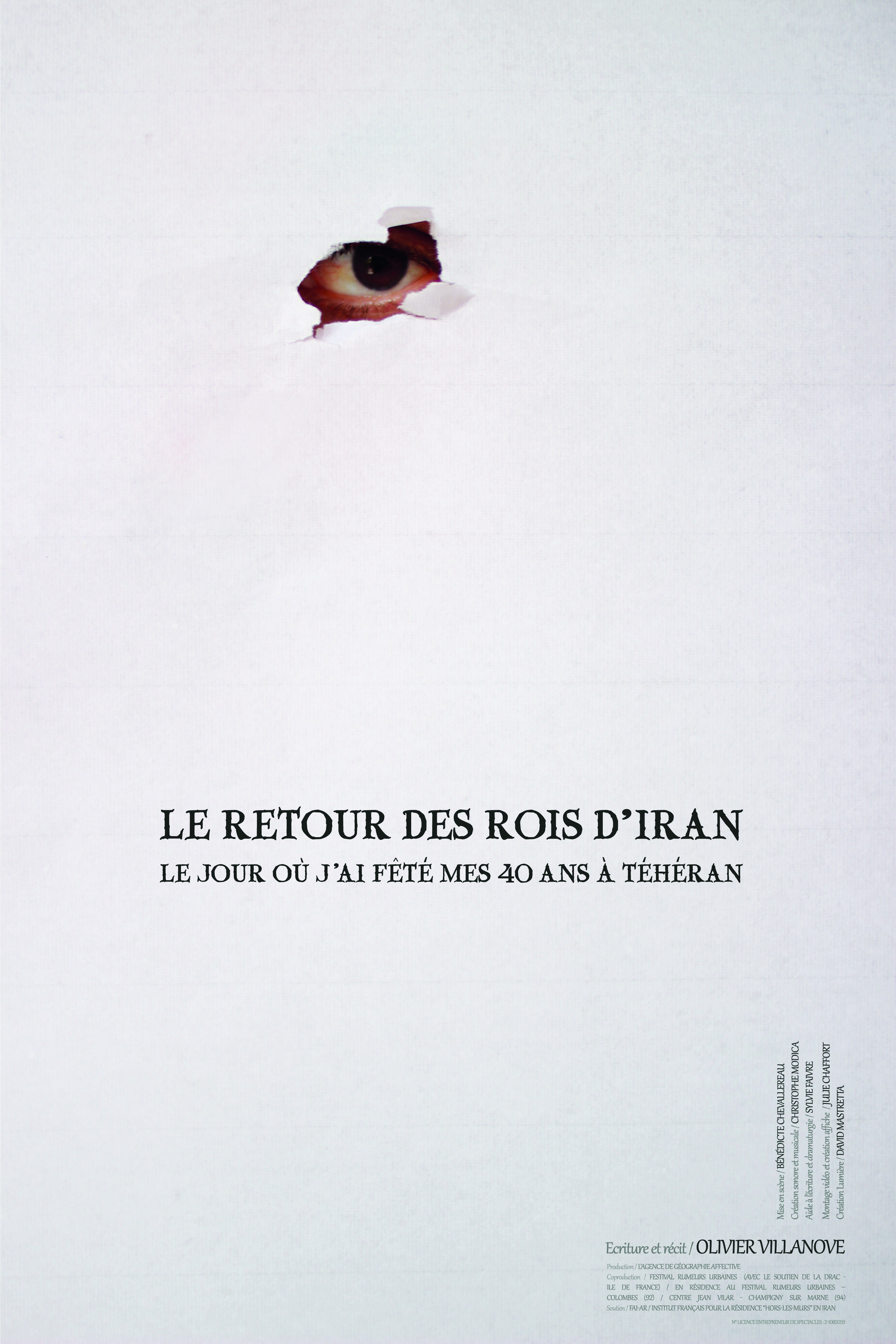 retour rois iran affiche spectacle agence geographie affective julie chaffort